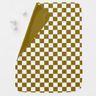 Goldener Ulmen-SchachbrettReversible Kinderwagendecke