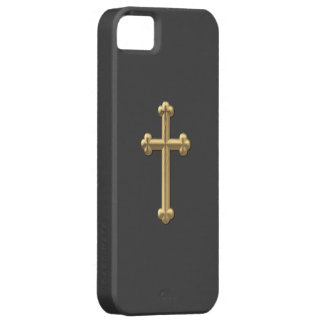 "Goldenes ""3-D"" Kreuz 2 Hülle Fürs iPhone 5"