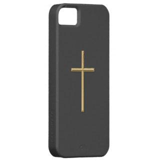 """Goldenes """"3-D"""" Kreuz Etui Fürs iPhone 5"""