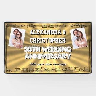 Goldenes 50. Hochzeitsjahrestags-Gewohnheits-Foto Banner