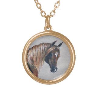 Goldenes arabisches Porträt-Goldtone Halskette