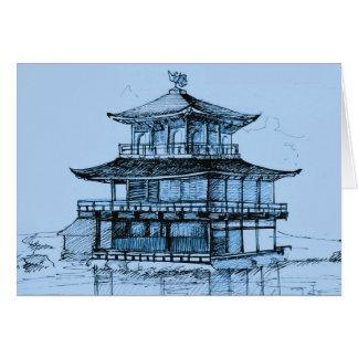 Goldenes Blau Pavillon-Kyotos Japan Grußkarte