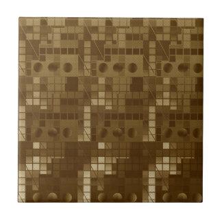 Goldenes Brown abstrakt Fliesen