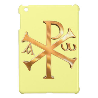 Goldenes Christogram iPad Mini Hülle