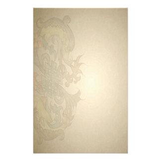 Goldenes Drache-Pergament-Briefpapier Individuelle Druckpapiere