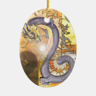 Goldenes Dragon~ornament Keramik Ornament
