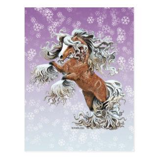 Goldenes Fantasie-Pferd Postkarte