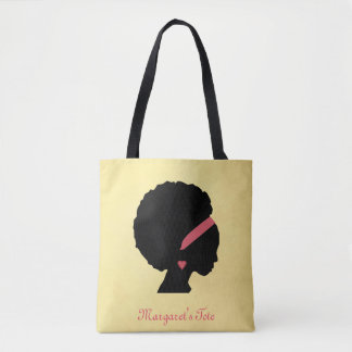 Goldenes Farbentwurf Afrohaar Tasche