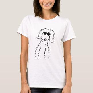 Goldenes Gekritzel in der Sonnenbrille T-Shirt