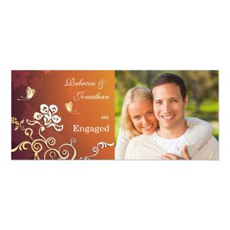 Goldenes Glühen - Foto-Verlobungs-Party Einladung