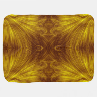 Goldenes helles Fraktal Babydecke