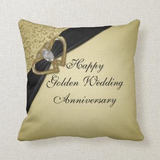 Goldenes Hochzeitstag-Wurfs-Kissen Kissen