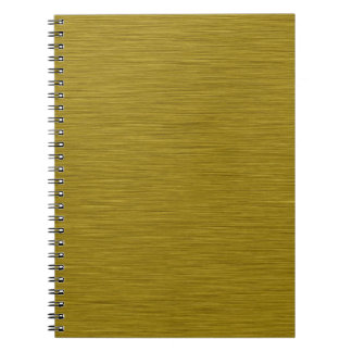 Goldenes Holzmaserung Notizbuch Spiral Notizblock