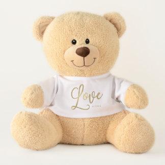 Goldenes Imitat-Goldskript der Liebe-| modernes Teddy