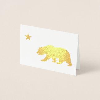 Goldenes Kalifornien-Weihnachten Folienkarte