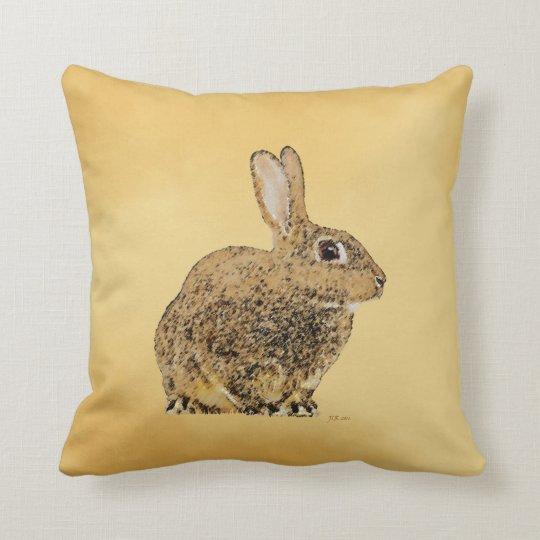 Goldenes Kaninchen Kissen