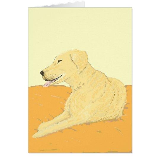 Goldenes Labrador auf einem Kissen Karte