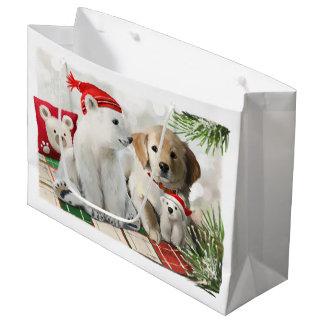Goldenes Labrador und der Eisbär Große Geschenktüte