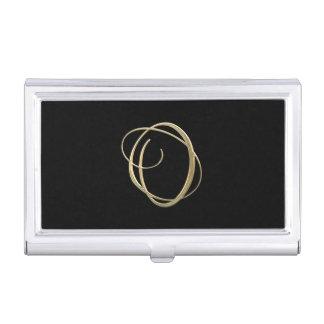 Goldenes Monogramm der Initiale O Visitenkarten-Schatulle