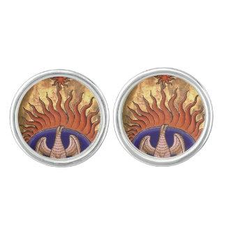 Goldenes Phoenix, das von der Asche steigt Manschettenknöpfe