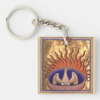 Goldenes Phoenix, das von der Asche steigt Schlüsselanhänger