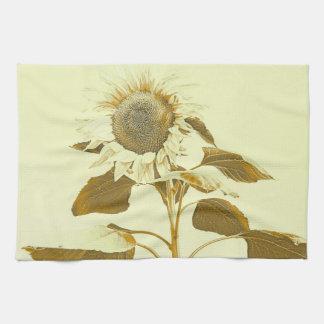 Goldenes Rayed Sonnenblume-Geschirrtuch Handtuch