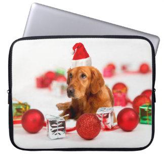 Goldenes rotes Weihnachtsmannmütze-Weihnachten des Laptop Sleeve