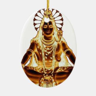 GOLDENES SHIVA OVALES KERAMIK ORNAMENT