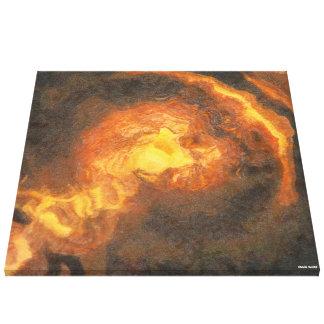 Goldenes T-Rex Leinwanddruck