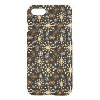 Goldenes und silbernes Schneeflocke-Muster iPhone 8/7 Hülle