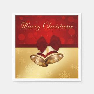 Goldenes Weihnachten Bell - Papierserviette