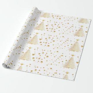 """Goldenes Weihnachtsglattes Packpapier, 30"""" x 30' Geschenkpapier"""
