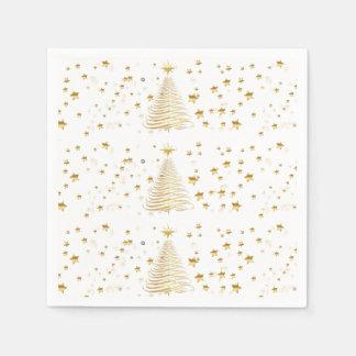 Goldenes WeihnachtsSet - Cocktail-Papierservietten Papierserviette