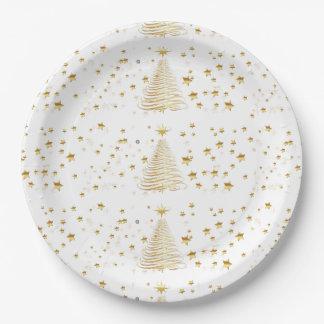 """Goldenes WeihnachtsSet - PapierTeller 9"""""""