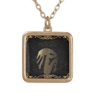 Goldenes Zeichen der Jungfrau Vergoldete Kette