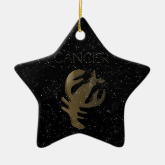 Goldenes Zeichen des Krebses Keramik Ornament