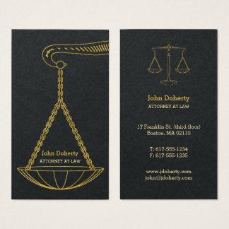 GoldenScales beruflichen des Rechtsanwalts der Visitenkarte