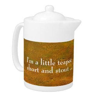 """Golderhebungs-"" mittlere Teekanne"