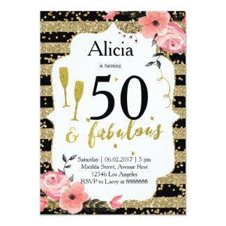 Golderwachsene Geburtstags-Party Einladung
