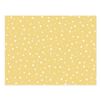 Goldfarbe mit weißem Punkt-Muster Postkarte