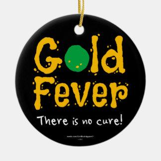 Goldfieber Rundes Keramik Ornament