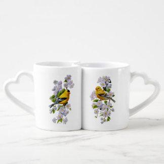 Goldfinch-Vögel u. Blumen U-Auswahl Liebestassen