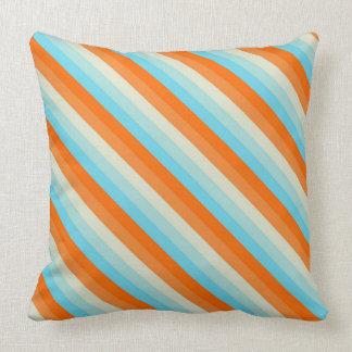 Goldfisch-diagonales gestreiftes Muster Kissen
