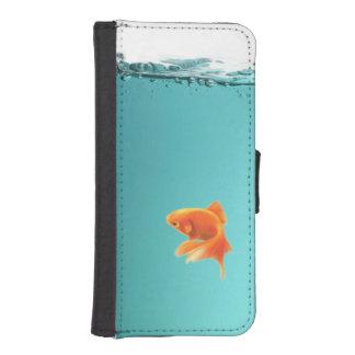 Goldfisch iPhone 5/5S Geldbörsen-Kasten Geldbeutel Hülle Für Das iPhone SE/5/5s