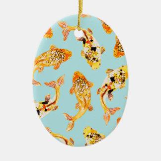 Goldfisch Ovales Keramik Ornament