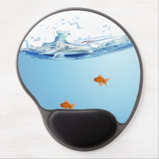 Goldfisch unter Wasseraquarium Gel Mouse Pad