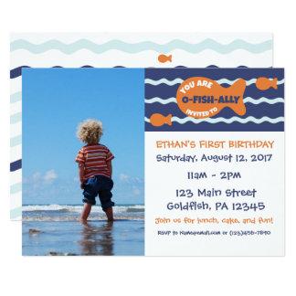 Goldfish-Geburtstags-Foto-Party Einladung
