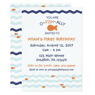 Goldfish-Geburtstags-Party Einladung