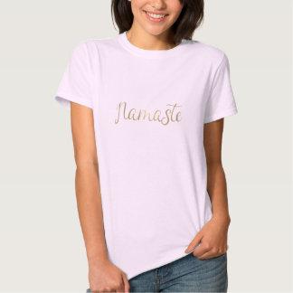 Goldfolie Namaste T-shirts