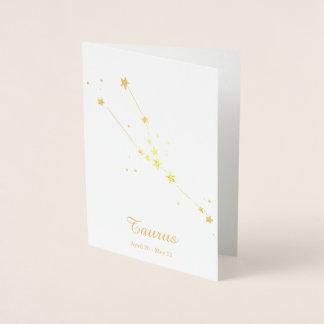 Goldfolie STIER Tierkreis-Zeichen-Konstellation Folienkarte